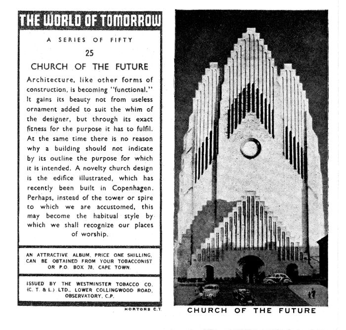 We can imagine evolutions in our collective usage. The churches of tomorrow will be streamlined, because adornment will no longer be necessary. Television will take on greater importance; it will be at the very center of maintaining social harmony.