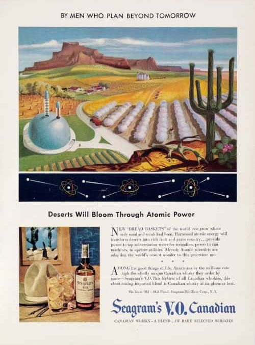 In 6 year's time, using atomic energy, deserts will be transformed into gardens