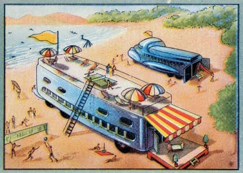 In the year 2000, mobile entertainment spaces will be set up on the beach during the summer.