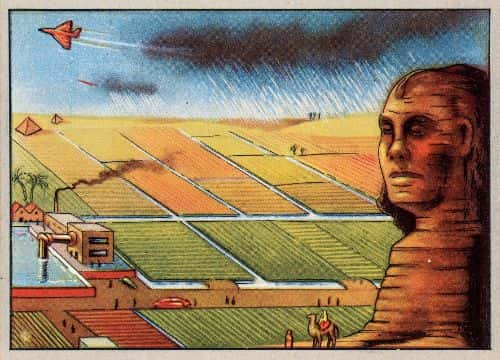 In the year 2000, the Egyptian desert will be fertile ground, due to rain-making airplanes