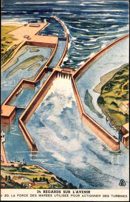 In the future, oceanic energy will be available to mankind through monumental dams
