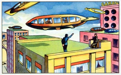 A preview of rooftops, converted into roadways for air transport.