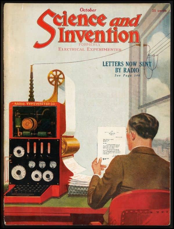 A precursor of the fax machine.